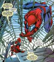 Peter Parker (Earth-616) and Wade Wilson (Earth-616) from Cable & Deadpool Vol 1 24 0001