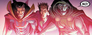 Owen Reece (Earth-616), Stephen Strange (Earth-616) and Victor von Doom (Earth-616) from New Avengers Vol 3 33 001