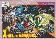 X-Men vs. Marauders (Earth-616) from Marvel Universe Cards Series II 0001