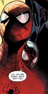 Peter Parker (Earth-616) and Miles Morales (Earth-1610) from Amazing Spider-Man Vol 3 10 003