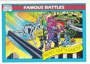 Fantastic Four vs. Galactus (Earth-616) from Marvel Universe Cards Series I 0001