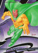 Vision (Earth-616) from Marvel Masterpieces Trading Cards 1993 0001
