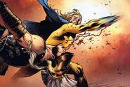 Sentry valt Ares aan om Osborn te beschermen (Siege -2)