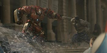 Anthony Stark (Earth-199999) vs. Robert Bruce Banner (Earth-199999) from Avengers Age of Ultron 001