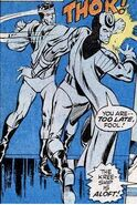 Blackagar Boltagon (Earth-616) fighting Maximus in Avengers Vol 1 95