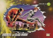 Matthew Murdock and Natalia Romanova (Earth-616) from Marvel Universe Cards Series III 0001