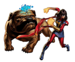 Kamala Khan and Lockjaw (Earth-12131)