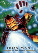 Anthony Stark (Earth-616) from Marvel Masterpieces Trading Cards 1992 0001