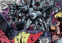 Doom Squad, James Howlett, Kurt Wagner, Piotr Rasputin, Warren Worthington III (Earth-616) from Uncanny X-Men Vol 1 145