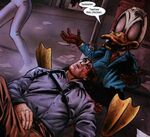 Howard the Duck (Earth-2149) and Ashley G. Williams (Earth-2149) from Marvel Zombies Vs. Army of Darkness Vol 1 5 0001