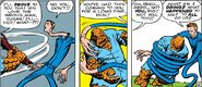 Reed Richards (Earth-616) using his stretching powers for the first time from Fantastic Four Vol 1 1