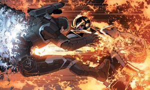 James Rhodes (Earth-616) vs. Thanos (Earth-616) from Civil War II Vol 1 1 001