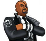 Nicholas Fury (Earth-TRN562) from Marvel Avengers Academy 002