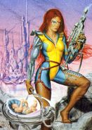 Jen Askani (Earth-4935) from 1994 Ultra X-Men (Trading Cards) 0001