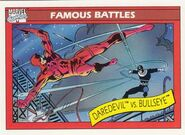 Matthew Murdock vs. Bullseye (Lester) (Earth-616) from Marvel Universe Cards Series I 0001