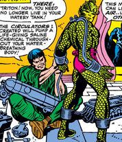 Triton (Earth-616) Maximus builts Triton's circulators from Fantastic Four Vol 1 54