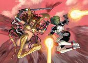 Aldrif Odinsdottir (Earth-616) and Gamora (Earth-616) from Guardians of the Galaxy Vol 3 10