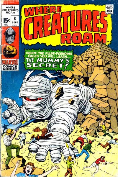 WHERE CREATURES ROAM # 1 VFN (7.5/8.0) HIGH GRADE- MARVEL MONSTERS- 1970- CENTS