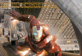 Iron-Man-launches-himself-at-Lokis-hovering-ship gallery primary