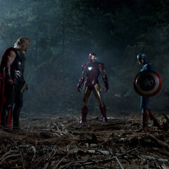 Thor, Iron Man and Captain America.