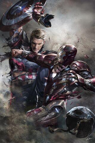 File:Captain America Civil War - Cap vs Iron Man Concept Art.jpg