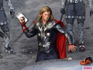 Snapped-on-Set-Chris-Evans-Chris-Hemsworth-Film-The-Avengers-1-580x435