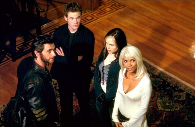 File:Storm, Rogue, Iceman, and Logan.jpg