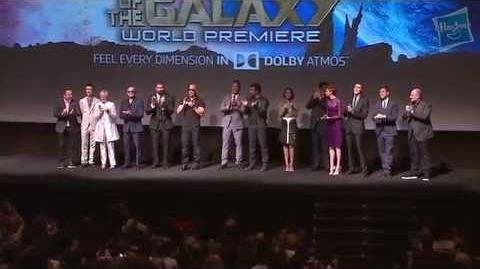 The Marvel's Guardians of the Galaxy Cast at the Red Carpet World Premiere
