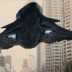 The Avengers Quinjet redesigned by Tony Stark.