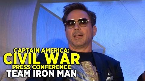 "FULL ""Captain America Civil War"" press conference (PART 1 TEAM IRON MAN) with cast and directors"