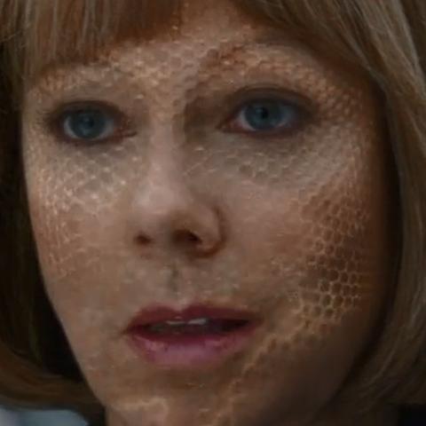 Black Widow as Councilwoman Hawley