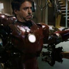 Prototype of Captain America's shield in <i>Iron Man</i>.