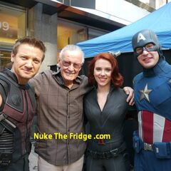 The team with Stan Lee.