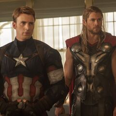 Official First Look at Captain America and Thor