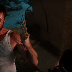Logan regrows his bone claws