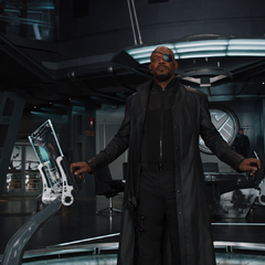 Fury on the helicarrier command deck
