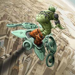 Unused concept art for Green Goblin.