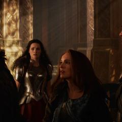 Jane slaps Loki.