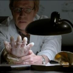 Dr. Connors new arm.