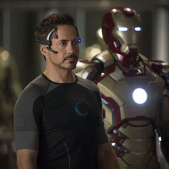 Tony with his Mark XLII armor.