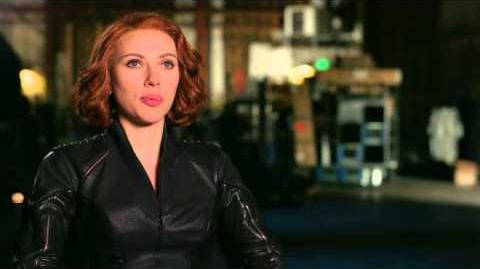 "Marvel's Avengers Age of Ultron Scarlett Johansson ""Natasha Romanoff Black Widow"" Interview"