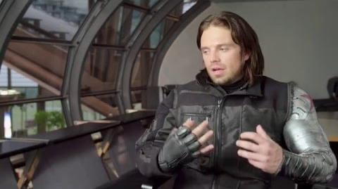 "Captain America Civil War Behind-The-Scenes ""Bucky"" Interview - Sebastian Stan"
