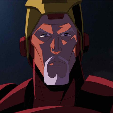 Tony in his armor.