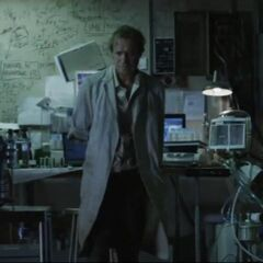 Dr. Connors in his Lab.