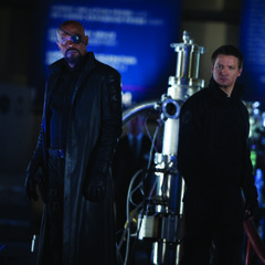 Nick Fury and Hawkeye.