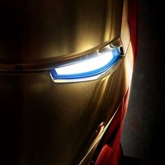 The suit's face plate.