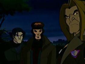 Logan, Gambit, Sabertooth