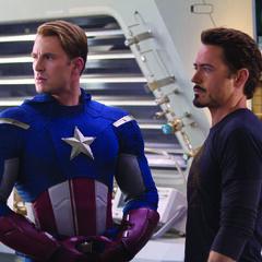 Steve Rogers (Captain America) and Tony Stark.