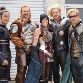 On the far left on the set of <i><a href=