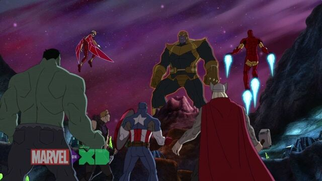 File:The Avengers and Thanos (Avengers Assemble).jpg